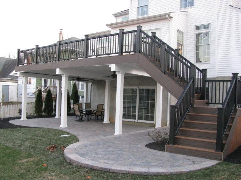 1000 ideas about two story deck on pinterest second for Ideas for covered back porch on single story ranch